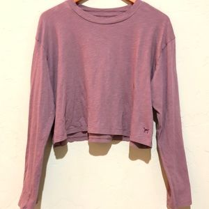 PINK cropped  tee